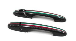 Abarth 500 595 Koshi Türgriffcover Tricolore Carbon