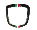 Abarth 500 Koshi Emblemcover hinten Tricolore Carbon