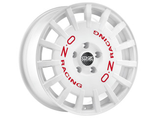 OZ Alufelge RALLY RACING 8x17 ET35  WHITE + RED LET.